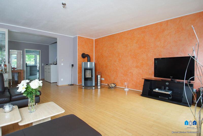 40885 ratingen lintorf doppelhaush lfte wohnzimmer kamin. Black Bedroom Furniture Sets. Home Design Ideas